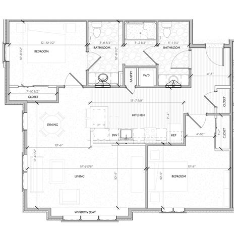2 bedroom unit floor plans floor plans