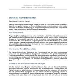 Stipendium Bewerbungsschreiben Muster Motivationsschreiben Stipendium Studium Bewerbung Co