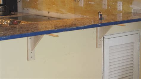 granite bar top overhang support granite overhang limits for your kitchen countertops
