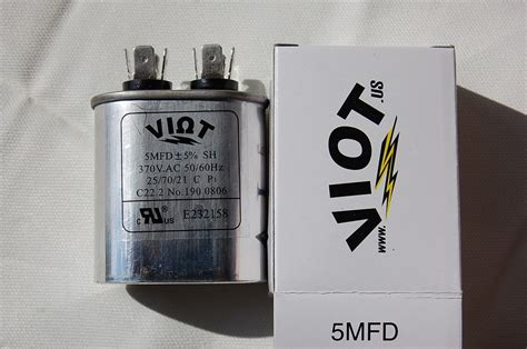 replace capacitor furnace motor furnace ac blower fan motor start run capacitor replacement 5mfd ac