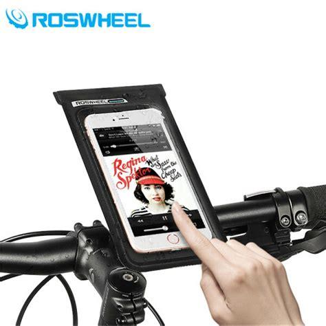 Roswheel Bike Waterproof Bag For 48 Inch Smartphone Black C201 Roswheel Waterproof Bag Holder Sepeda Untuk Smartphone 6