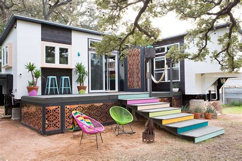 tiny house styles breezy boho dream tiny texas house made from two trailers