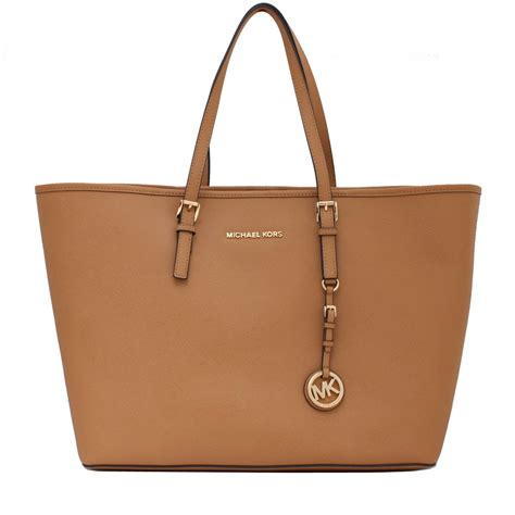 M Hael Kors Saffiano michael kors jet set travel medium saffiano leather tote