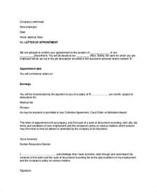 Appointment Letter Letter Format Professional Letter Format Sle 8 Exles In Pdf Word