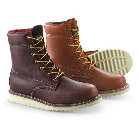 s wolverine 174 madsen steel toe wedge boots 221860