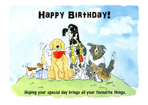 printable birthday cards dog lovers pictures of dogs wishing happy birthday to a dog lover