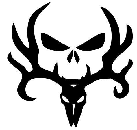 Auto Decals Red Deer by Deer Elk Antler Skull Sticker