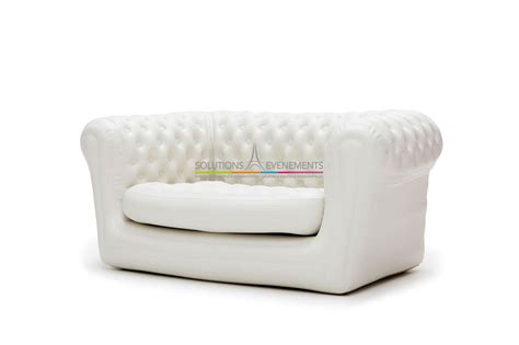 canapé gonflable chesterfield location de canape chesterfield gonflable blanc