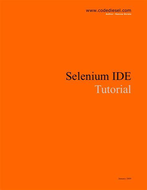 selenium tutorial powerpoint slides selenium ide tutorial
