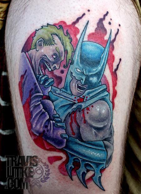 tattoo new school batman batman and the joker by travis litke tattoo inspiration