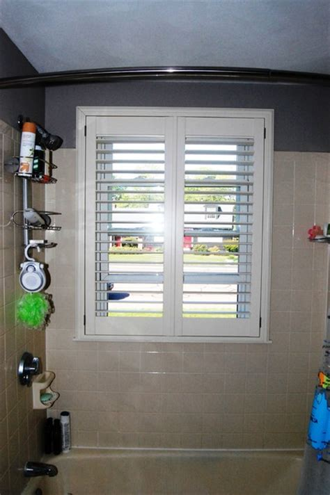 plantation shutters for bathroom window plantation shutters traditional bathroom boston by