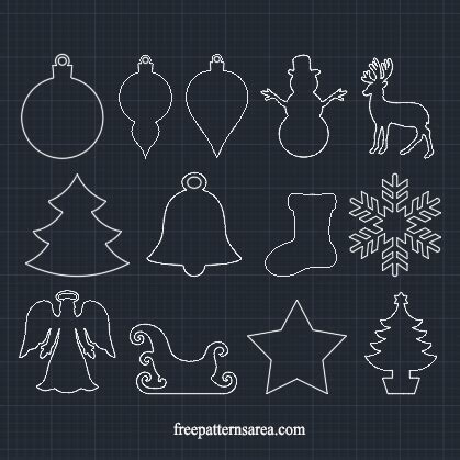 christmas dxf free winter and ornament vector freepatternsarea