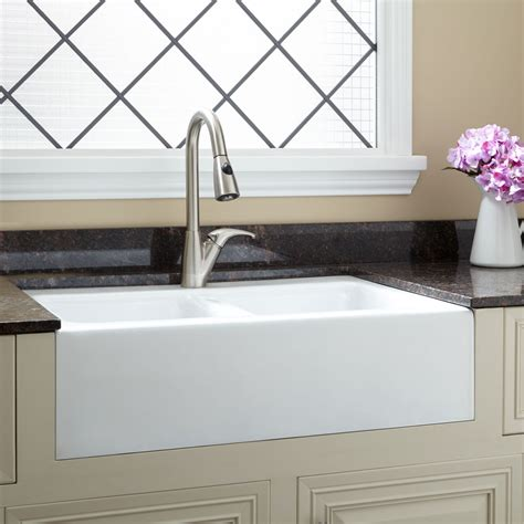 cast iron apron kitchen sinks kohler whitehaven kohler whitehaven basin
