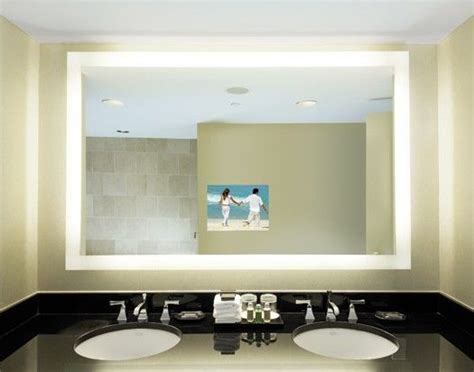 Tv Mirror Bathroom Bathroom Mirror Tv Spaces Pinterest