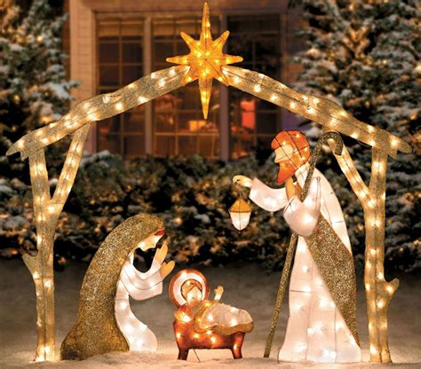manger outdoor nativity decorations