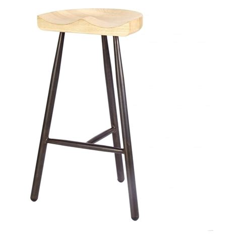 light wood bar stools buy vintage brown 3 leg metal bar stool with solid light