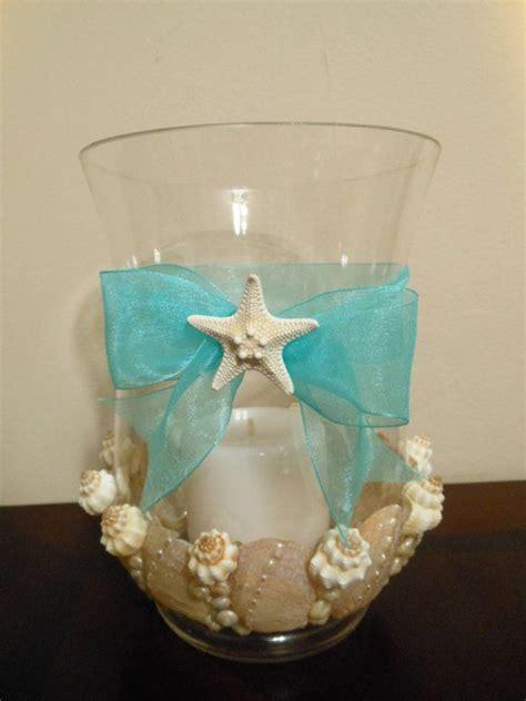 beach decor seashell candleholder hurricane vase