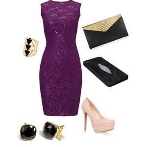 Purple lace dress polyvore