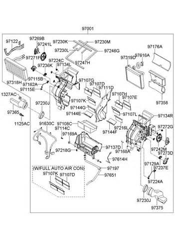 Kia Sedona Parts List Kia Sedona Heater System Heater Evaporator
