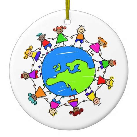 european kids christmas tree ornaments zazzle