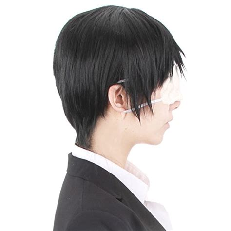Hh 920592couple Costume Black hh building tokyo ghoul kaneki ken wig anime costume black hair hardware materials