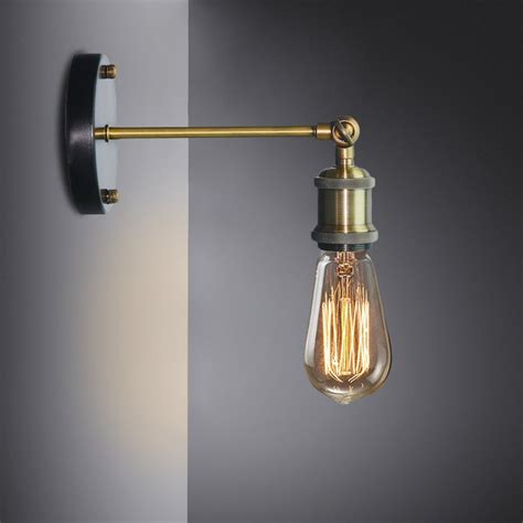 Edison Bulb Wall Sconce Louis Poulsen Sconce Wall L Vintage Loft Wall Light E27 Edison Bulb Plated Iron Retro