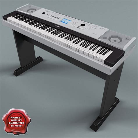 Keyboard Yamaha Dgx 530 3d model of synthesizer yamaha dgx530 by 3d molier