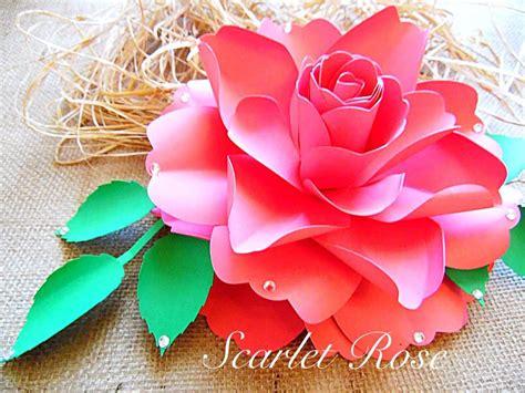 easy unique to make a rose paper flower tutorial youtube how to make paper roses easy step by step tutorial