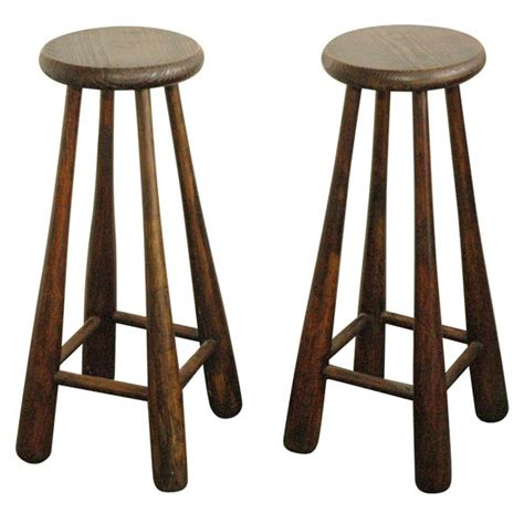 Baseball Base Bar Stools by Pair Of Vintage Baseball Bat Bar Stools At 1stdibs