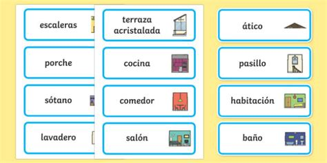 parts of the house in spanish parts of a house word cards spanish spanish parts house