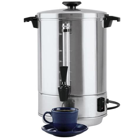 west bend 58055r 55 cup 2 2 gallon aluminum coffee urn