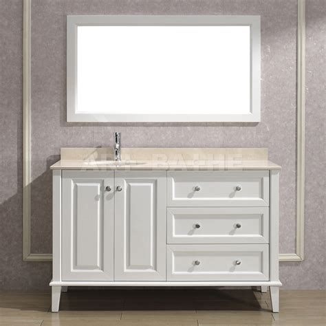 55 white bathroom vanity