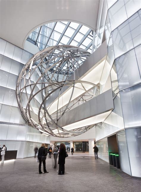 deutsche bank steel sphere  frankfurt idesignarch