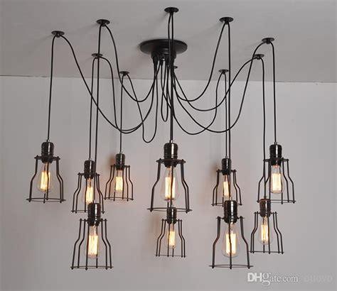Retro Bedroom Ideas loft vintage industrial spider arms pendant light dining