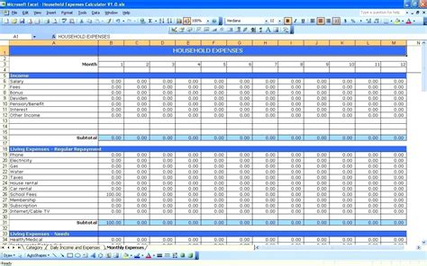 small business income and expenses spreadsheet download spreadsheet