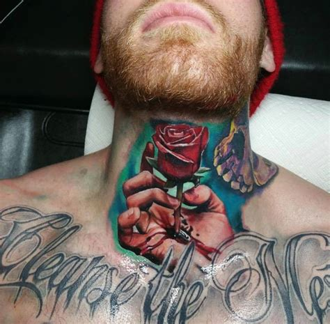 throat tattoos 17 sweet ripped neck tattoos