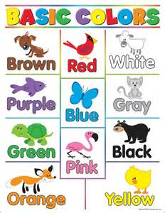 basic color chart learning charts basic colors t 38208