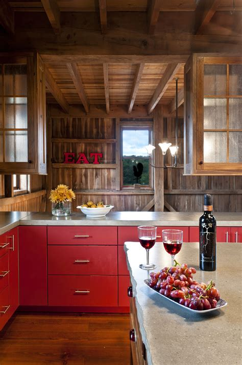 barn red kitchen ideas marvelous rustic shelves fashion new york traditional wine
