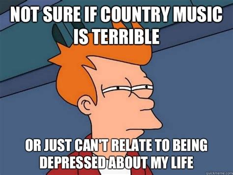Country Music Memes - not sure if country music is terrible or just can t relate
