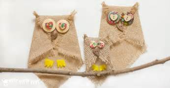 No sew button and burlap owl craft an easy owl craft for kids