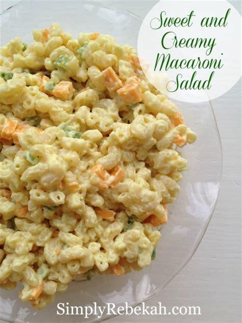 sweet n creamy macaroni salad picture the recipe sweet and creamy macaroni salad simply rebekah