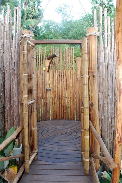 outdoor showers a rustic outdoor shower made from bamboo bathroom outdoor showers kerti zuhanyz 243 k