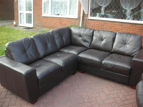Brown Leather Corner Sofa Sale Brown Leather Corner Sofa For Sale Dudley Dudley
