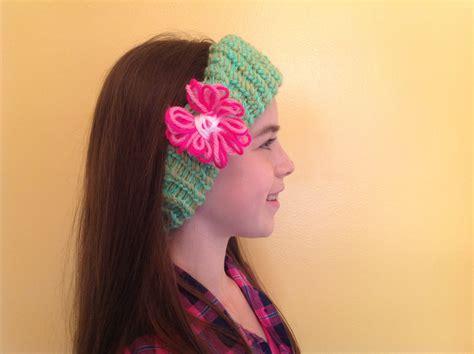 loom knit ear warmer how to loom knit an ear warmer with flower
