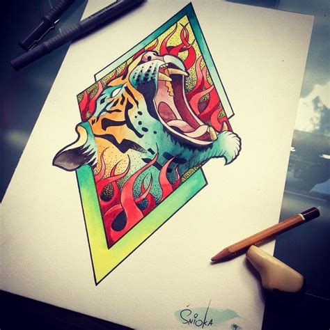 fire tiger tattoo designs tiger design best ideas gallery