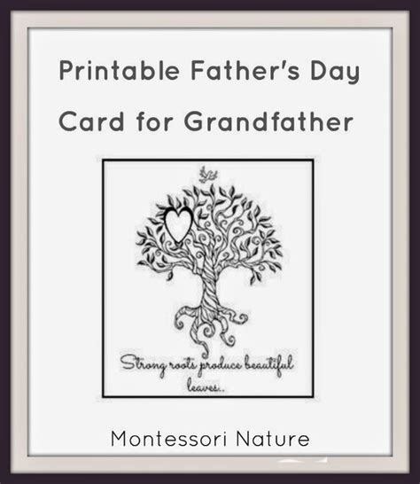 printable christmas cards for dad printable father s day card for grandfather montessori
