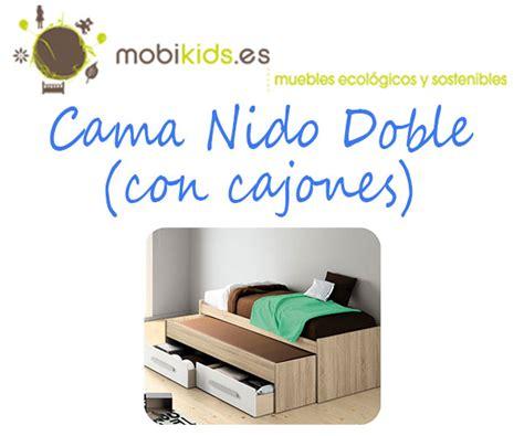 cama nido doble  cajones  tus hijos