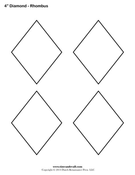 diamond templates 4 inch tim s printables