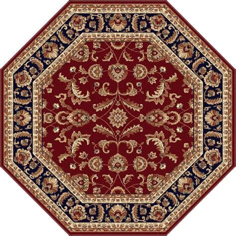 Octagon Rug by Tayse Rugs Sensation 7 Ft 10 In Octagon Transitional