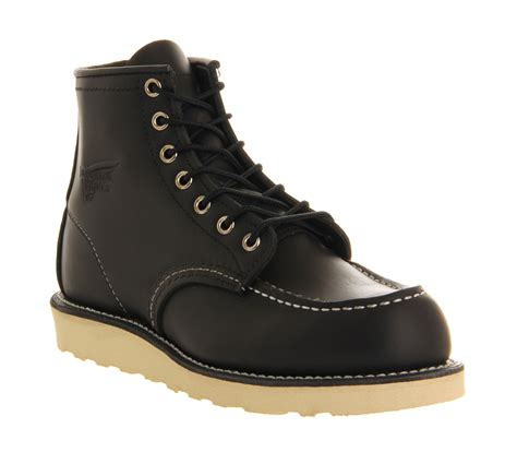 redwing boots for wing 6 inch moc toe boots in black lyst
